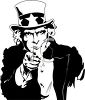 Retro Black and White Uncle Sam Pointing clipart