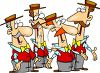 Barbershop Quartet Musical Singing Group clipart