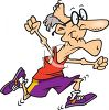 Healthy Old Man Running in a Race clipart