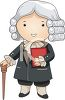 Colonial Era Judge Wearing a Powdered Wig clipart