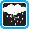 Weather Icon Showing a Rain Cloud clipart