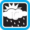 Weather Icon Showing the Sun on a Rainy Day clipart