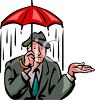 Man Getting Drenched in the Rain clipart