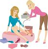 Sales Clerk Helping a Woman in a Shoe Store clipart