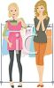 Girls Clothes Shopping clipart