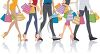 People Carrying Shopping Bags clipart