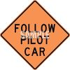 Orange Pilot Car Road Sign clipart