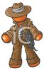 Outdoorsman Adventurer With a Rope  clipart
