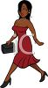Woman Wearing an Evening Dress Going Out clipart