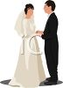 Bride and Groom at the Alter clipart