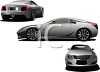 Trio of Flashy Sports Cars clipart