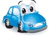 Cute Little Cartoon Car with a Flat Tire clipart