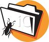 Folder with a Bug clipart