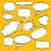 Collection of Conversation Bubbles clipart