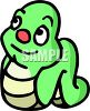 Cute Cartoon Worm clipart