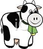 Happy Black and White Cow Toy clipart