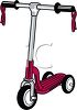 Retro Scooter Toy clipart