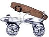Old Fashioned Roller Skate clipart
