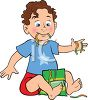 Little Boy Eating Candy Worms clipart