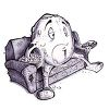Cartoon of a Couch Potato Snacking on Popcorn While Watching TV clipart