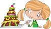 Little Girl Eating Dessert clipart