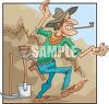 Gold Miner Doing a Happy Dance clipart
