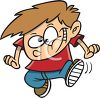 Cartoon of a Cute Little Boy Dancing clipart
