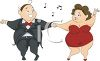 Chubby Couple Dancing clipart