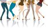Legs of People Dancing clipart