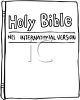 New International Version of The Holy Bible clipart