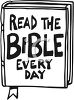 """Read The Bible Every Day"" Text on a Bible clipart"