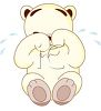 Weeping Teddy Bear clipart
