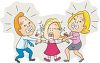 Mom and Dad Fighting for Custody Over Their Daughter clipart