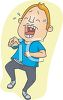Cartoon of a Man Laughing so Hard He Cried clipart