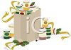 Canned Food in a Bag to Give to Charity During the Holidays clipart