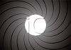 Swirled Shadows Behind a Full Moon clipart