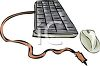 Computer keyboard with computer mouse clipart