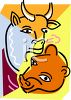 Bulls and Bears Cartoon Graphic clipart