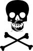 Poison Symbol - Skull and Crossbones - Danger! clipart