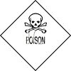 Poison Symbol - Sign with Skull and Crossbones Symbol clipart