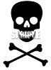 Skull and Crossbones Poison Symbol clipart