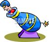 Man Being Shot Out of a Cannon clipart