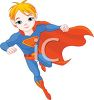 Boy Superhero clipart