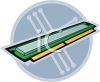 Single in-line memory module for PC computer � RAM memory clipart