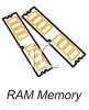 RAM memory chips for a computer clipart