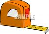 Orange carpenters tape measure clipart