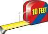 10 foot tape measure clipart