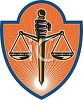 The scales of justice, a symbol of our legal system in its effort to be balanced and fair clipart