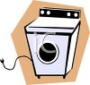Clothes dryer electric appliance clipart