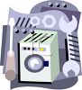 Household Appliance Repair - Washing Machine or Washer clipart